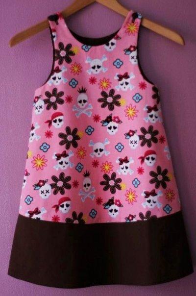 Robe trapèze intemporels enfants citronille