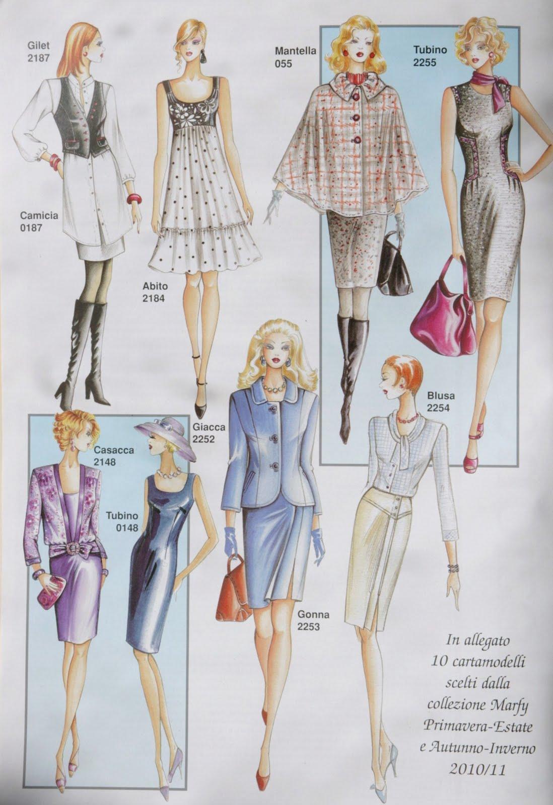 Magazines de couture avec patrons europ ens couture stuff - Dessin couture ...