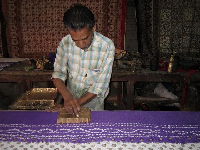 Impression tissu indien à la main