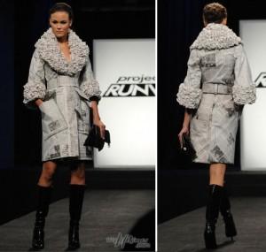 Manteau en papier journal