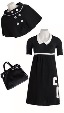 Patron gratuit burda années 60 robe capeline et sac