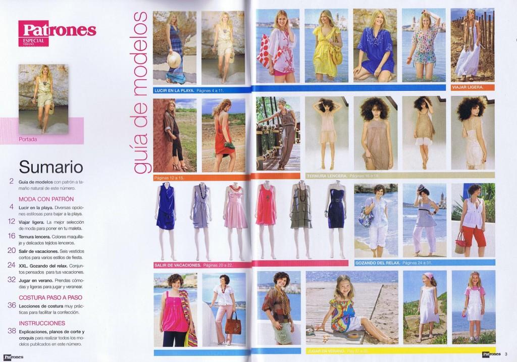 sommaire couture patrones été 2011