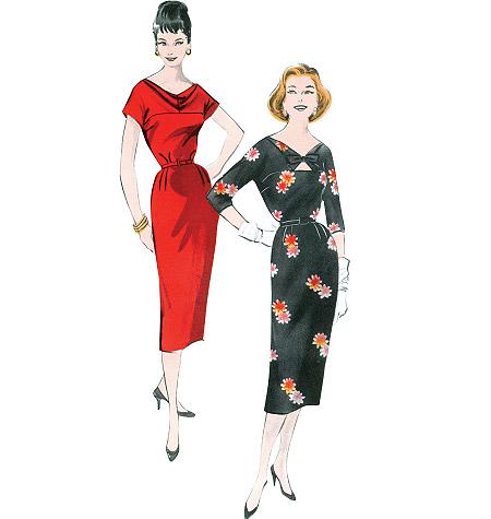 patron couture Robe années 60
