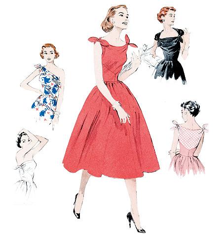 Patron de robe années 50
