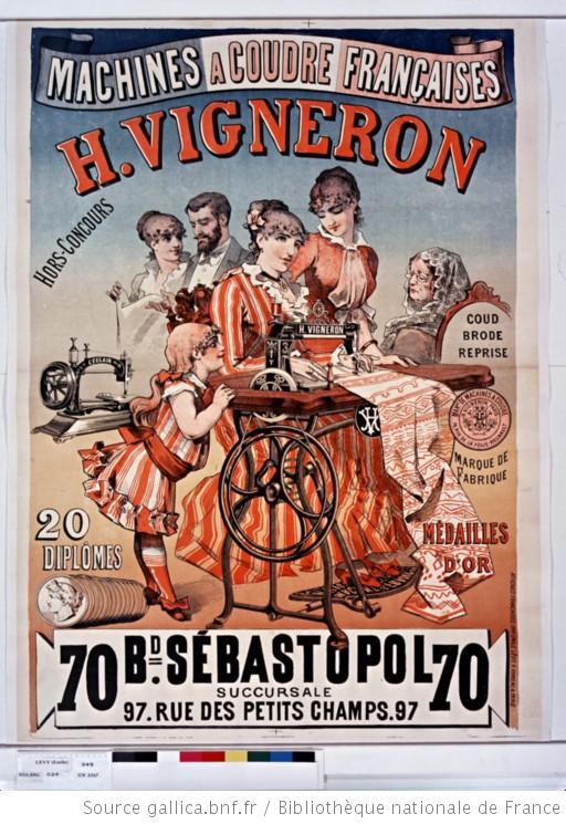 machine à coudre H Vigneron 1885