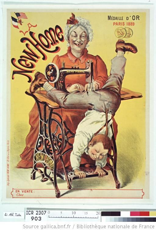 publicité machine à coudre new home 1894