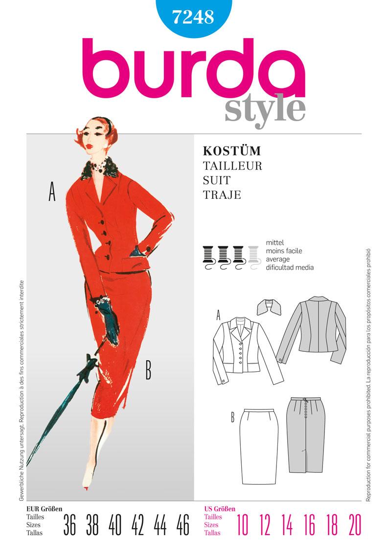 Burda collection printemps -été 2012 - Tailleur années 50 réf. 7248