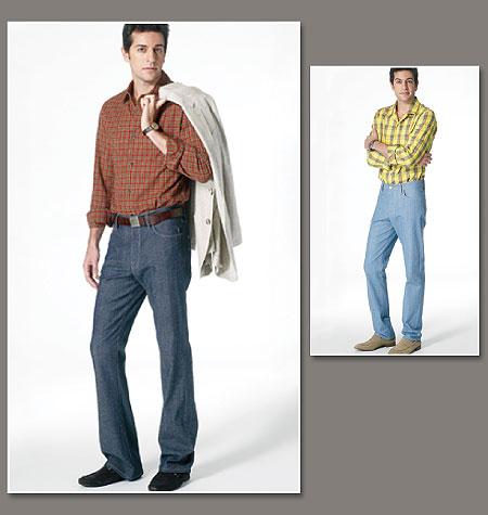 V8801 V8800  Jean et chemise homme Vogue