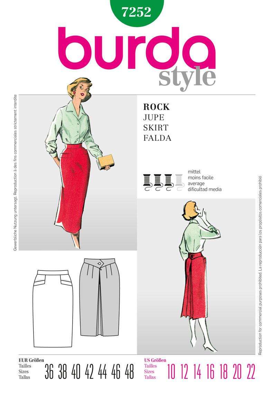 Burda collection printemps -été 2012 - Jupe vintage réf.7252
