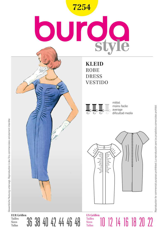 Burda collection printemps -été 2012 - Robe réf.7254