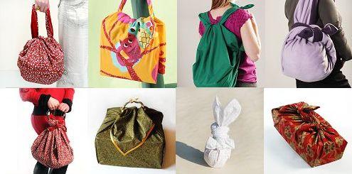 tuto sac japonais furoshiki pliage