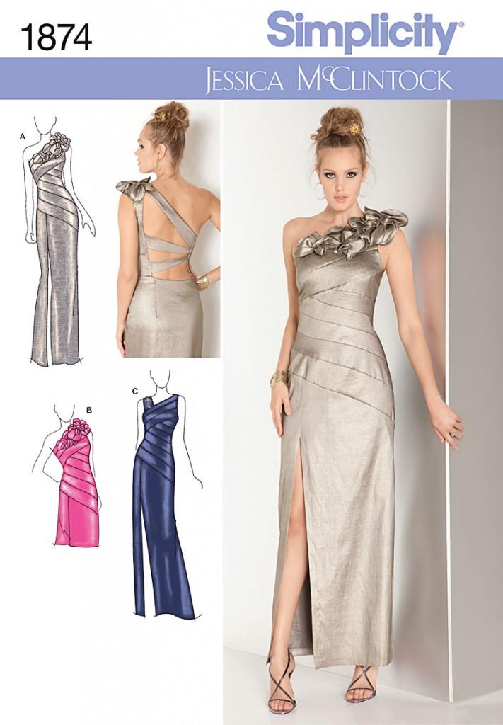 patron robe soirée printemps 2012