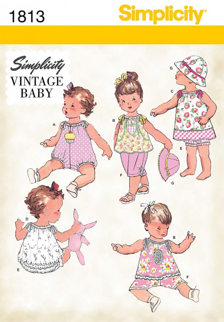 patron couture bébé vintage