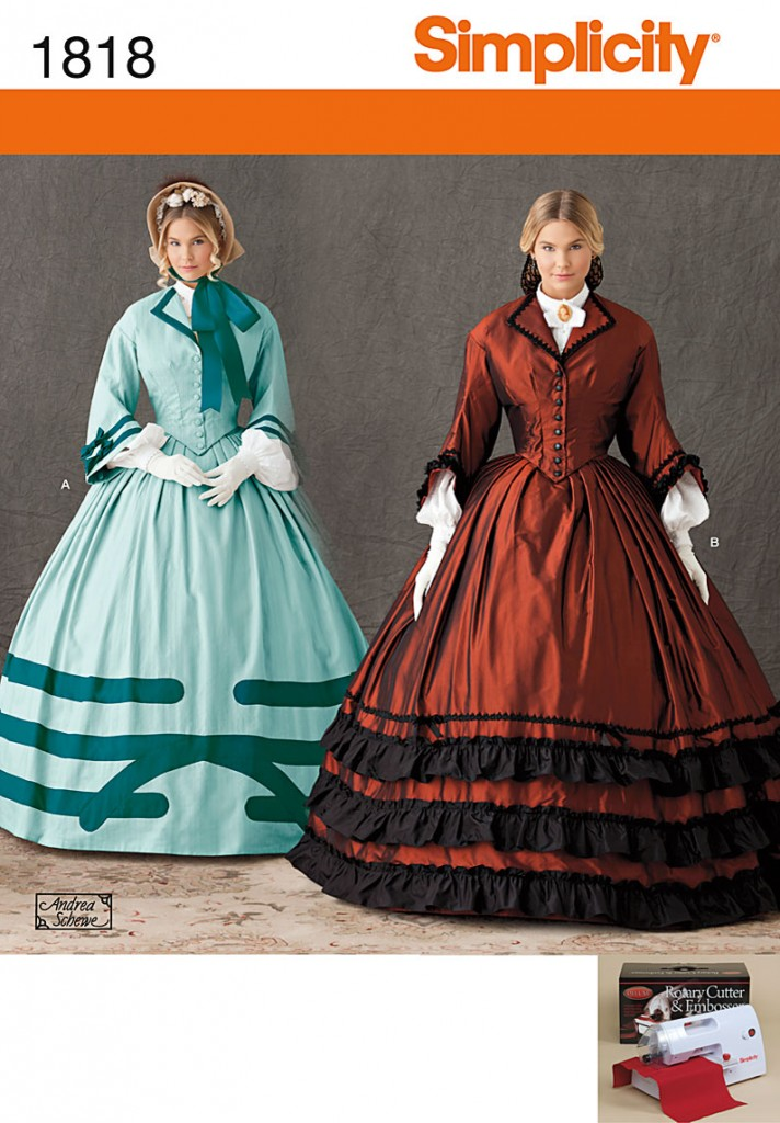 patron couture robe guerre civile américaine
