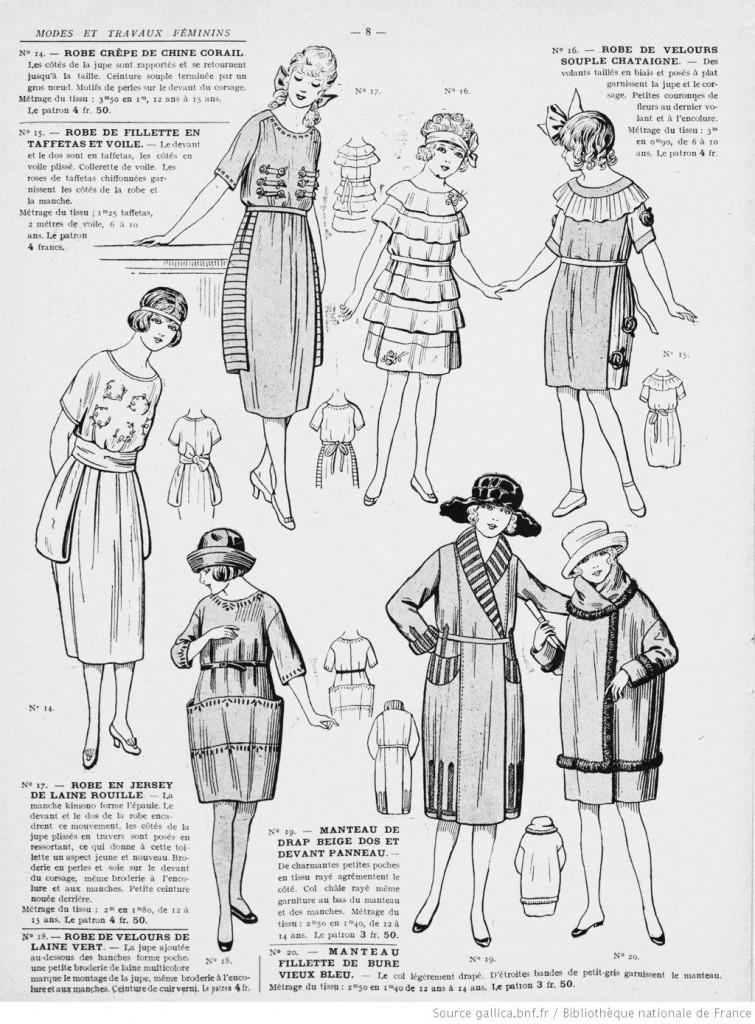 Robes jeune-fille et enfant années 20