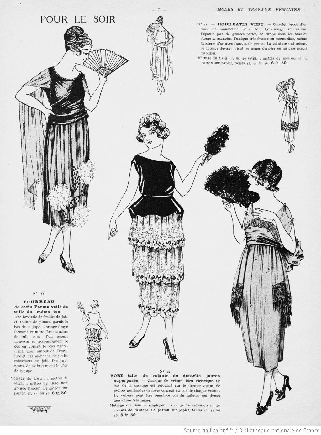 Patron robe soiree vintage all pictures top - Patron de robe de soiree ...