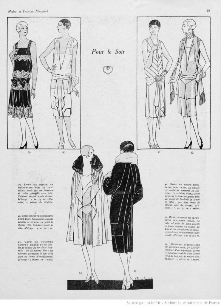 tenue de soirée années 20 vintage