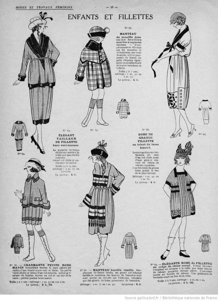 Tenues fillettes hiver années 20 vintage