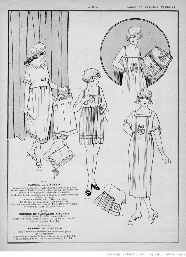 lingerie années 20
