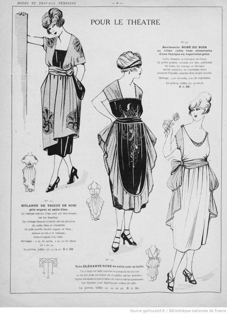 Robes soirées magazine vintage années 20