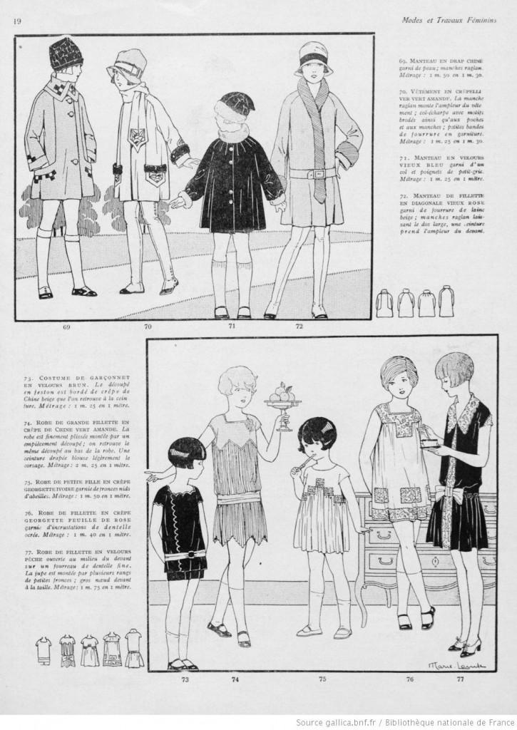robe enfant fille années 20