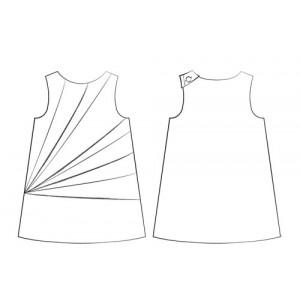 Dessin technique robe origami enfant - lalimaya