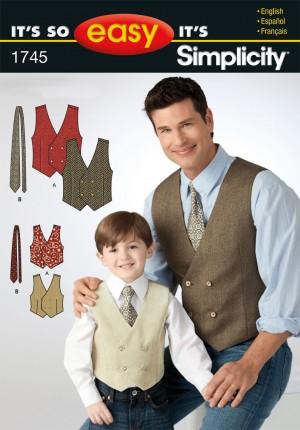 patron couture Gilet homme et garçon