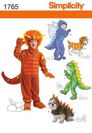 patrons déguisement dinosaure et dragon