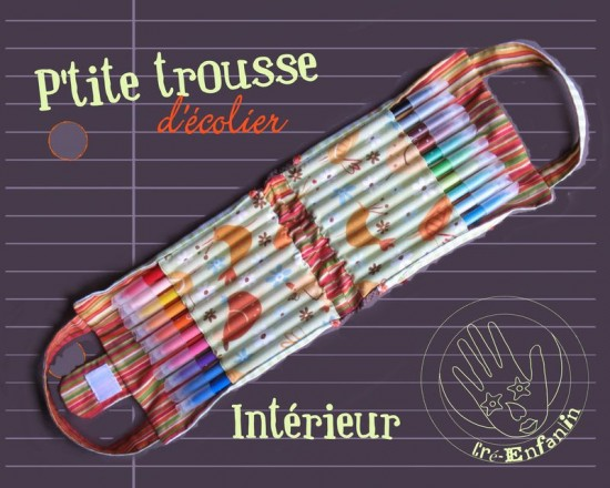 tuto trousse crayons couleurs