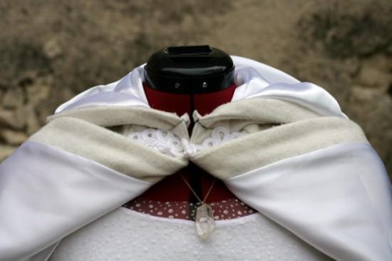 Cape blanche doublée