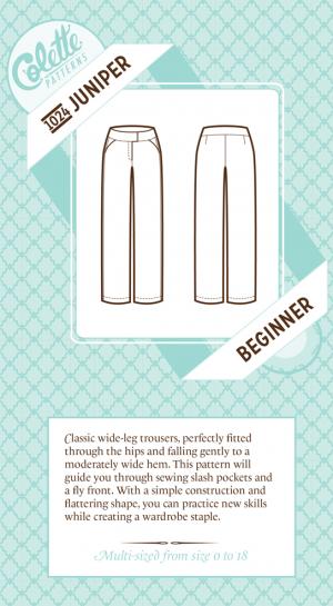 Patron pantalon juniper colette