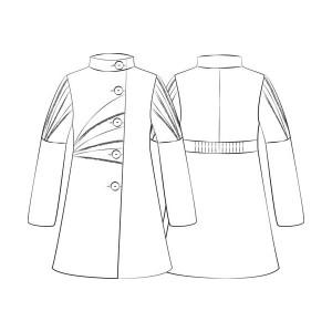 Manteau origami votez couture stuff - Dessin de manteau ...