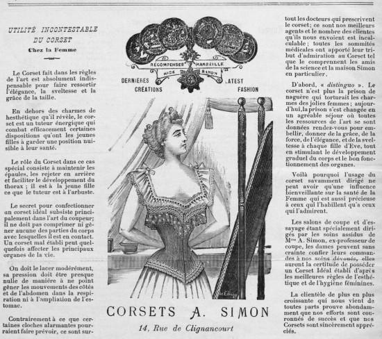 De l'utilité incontestable du corset (Beauté-Corsets 1902)