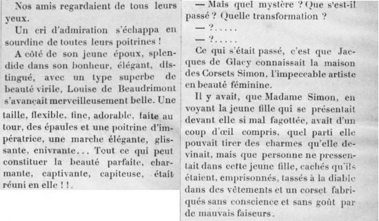 extrait beauté corset 1900