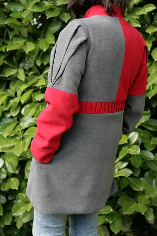 manteau origami dos