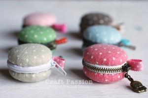 Porte-monnaie macaron par Craft passion