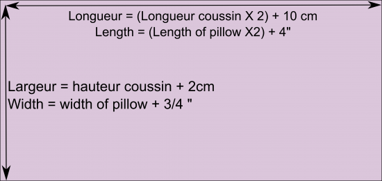 Tuto coussin portefeuille
