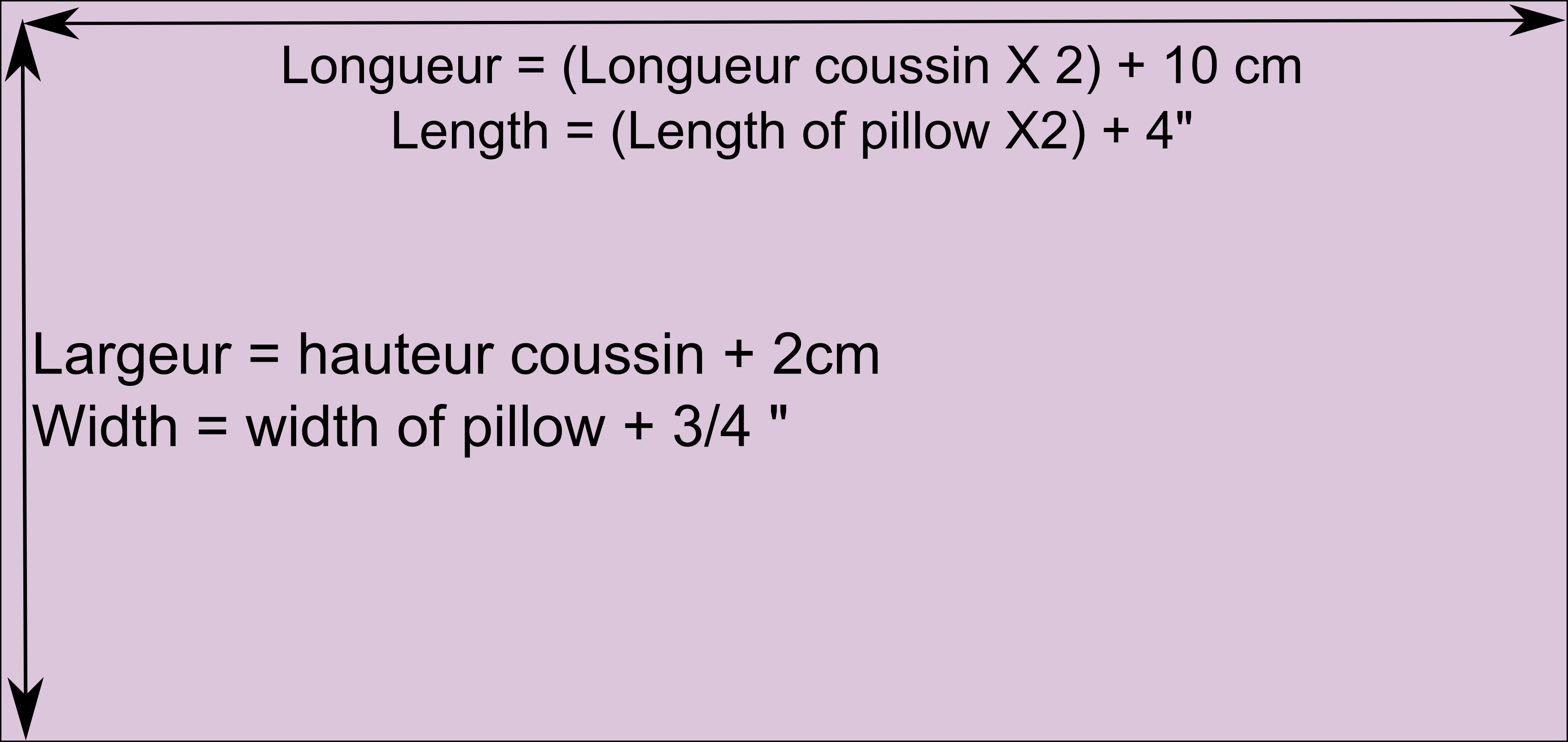 Comment coudre une housse de coussin rectangulaire - Housse de coussin sur mesure ...
