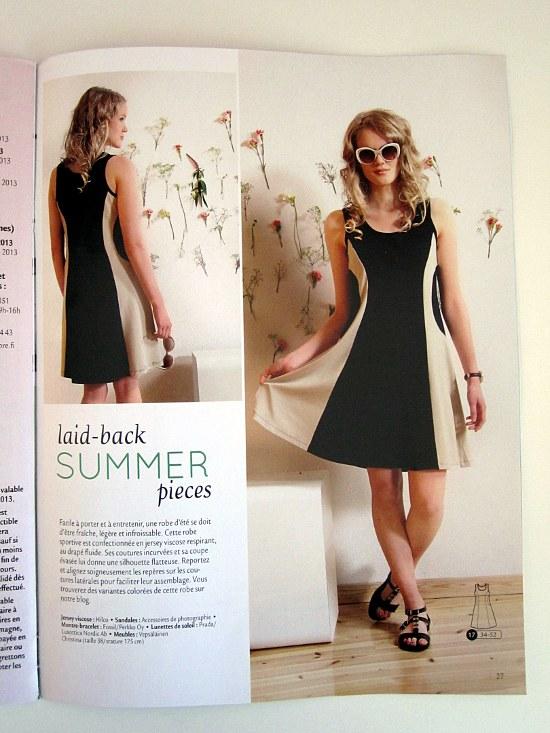Une petite robe facile à porter pour l'été avec un color block intéressant.